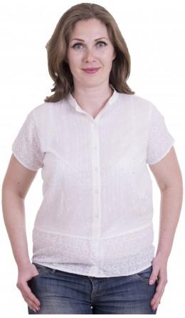 Блуза белая / Вышивка / Стразы
