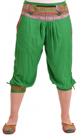 Капри с манжетами / Зеленые