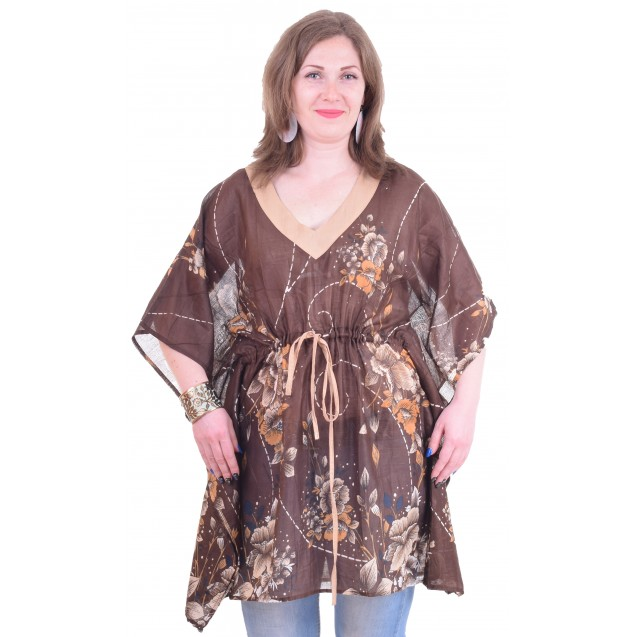 Кафтан мини х/б / светло-коричневый